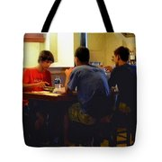 Lunch At The Cafe Downtown Tote Bag