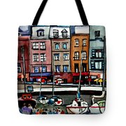 Lunch At The Harbor Tote Bag