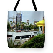Lunch At The Pier Tote Bag