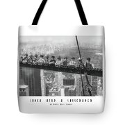 Lunch Atop A Skyscraper, By Lego Tote Bag