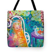 Lunch Cat Tote Bag