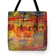 Lunch On The Terrace Tote Bag