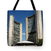 Lunchtime At Nathan Philips Square Toronto City Hall Tote Bag