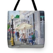 Lunchtime In Florence, Or Tote Bag