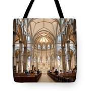 Lunchtime Mass At Saint Paul Cathedral Pittsburgh Pa Tote Bag