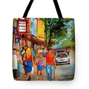 Lunchtime On Mainstreet Tote Bag