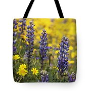 Lupin And Daisies Tote Bag