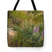 Lupine Among The Weeds  Tote Bag