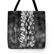 Lupine In Black And White Tote Bag