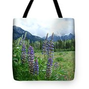 Lupine In The Alpine Tote Bag