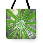 Lupine Leaf And Raindrop Tote Bag