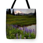 Lupine Sunrise Tote Bag by Mike  Dawson