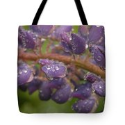 Lupine With Raindrops Tote Bag
