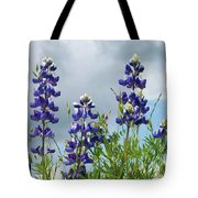 Lupines Against The Sky Tote Bag