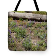 Lupines And A Log Tote Bag