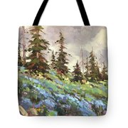 Lupines And Bluebells Tote Bag