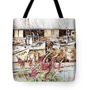 Lupines At Murray Harbour Tote Bag