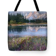 Lupines At Pilgrim Creek Tote Bag