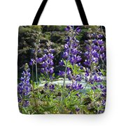 Lupines At The River Tote Bag