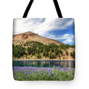 Lupines Lake And Lassen Tote Bag