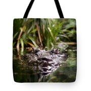 Lurking Crocodile Tote Bag