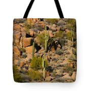 Lush Arizona Desert Landscape Tote Bag