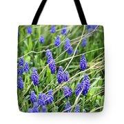 Lush Grape Hyacinth Tote Bag