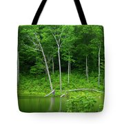Lush Green Pond Tote Bag