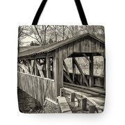 Luther Mills Bridge In Monochrome Tote Bag