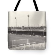 Luton Town - Kenilworth Road - Bobbers Stand West Side 1 - Bw - August 1969 Tote Bag