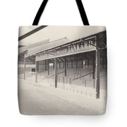Luton Town - Kenilworth Road - Oak Road Terrace South Goal 1 - Bw - April 1969 Tote Bag