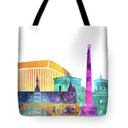 Luxembourg Landmarks Watercolor Poster Tote Bag