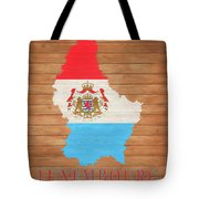 Luxembourg Rustic Map On Wood Tote Bag