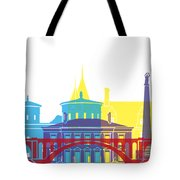 Luxembourg Skyline Pop Tote Bag