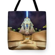 Luxor Casino Egyptian Sphinx Las Vegas Night Tote Bag