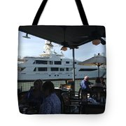 Luxurious Boat In Galveston  Tote Bag