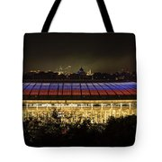 Luzhniki Stadium At Summer Night Against The Background Of The Ministry Of Foreign Affairs, The Cath Tote Bag