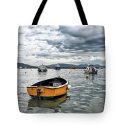 Lyme Regis Harbour - March Tote Bag