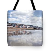 Lyme Regis Seafront Tote Bag