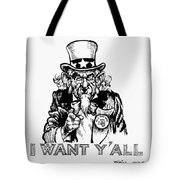 Lyndon Johnson: Cartoon Tote Bag