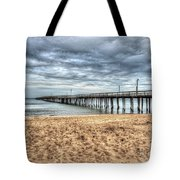 Lynnhaven Fishing Pier, Bay Side Tote Bag