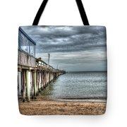 Lynnhaven Fishing Pier, Ocean Side Tote Bag