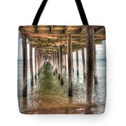 Lynnhaven Fishing Pier, Pillars To The Sea Tote Bag