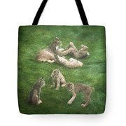 Lynx In The Mist Tote Bag