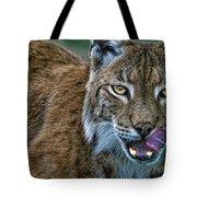 Lynx Licks Lips Tote Bag