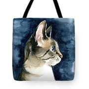 Lynx Point Cat Portrait Tote Bag