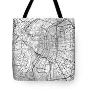 Lyon France Light Map Tote Bag