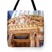 Lyric Opera Of Chicago Tote Bag