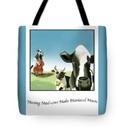 Mooing Mad Cows Tote Bag