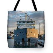 M/v Algoway At The Salt Dock Tote Bag